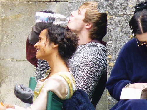 Bradley James Girlfriend Angel Coulby Merlin on BBC i...