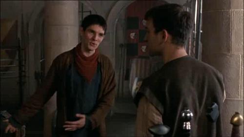 Merlin cast on set