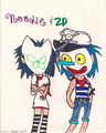 Noodle &amp; 2D - plastic-beach fan art