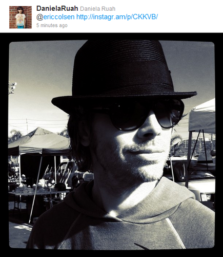 NCIS: Los Angeles wallpaper possibly with a fedora titled ON SET-Eric Olsen- Twitter pic