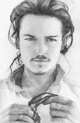 Filem kertas dinding probably with a portrait called Orlando Bloom