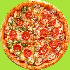 Pizza wallpaper with a sausage pizza and a pepperoni pizza titled PIZZA!