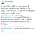 Paul & Nina Twitter