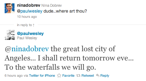 Paul and Nina Twitter