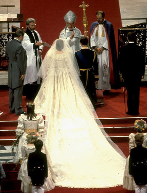 princess diana wedding dress train length. princess diana wedding dress