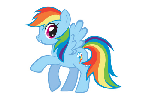 My Little Pony Friendship is Magic wallpaper possibly with anime entitled Rainbow Dash
