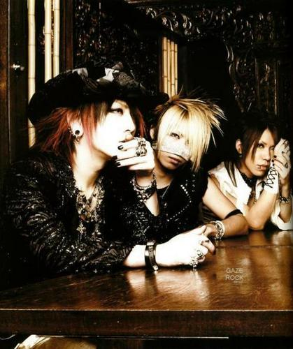 Japanese Bands wallpaper probably containing a portrait titled Ruki, Reita and Aoi