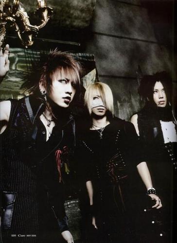 Ruki, Reita and Aoi