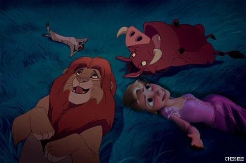 Simba/Rapunzel/Timon/Pumba