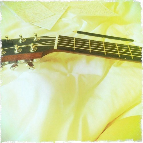 Taylor:Writing a song all afternoon in my hotel room. Dublin, Ireland.