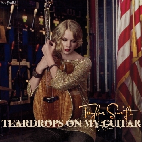 Taylor rapide, rapide, swift fond d'écran called Teardrops On My guitare [FanMade Single Cover]