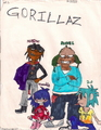 The GoRiLLaZ - gorillaz fan art