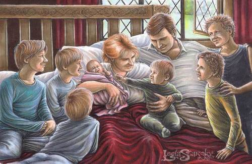 The Weasley family welcome Ginny.