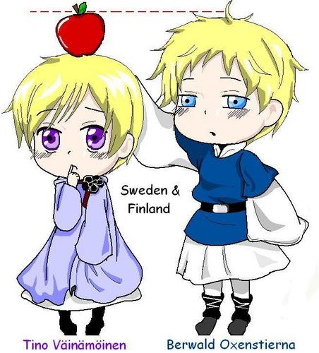 Hetalia kertas dinding with Anime called Tino & Berwald