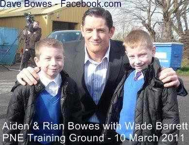 Wade Barrett with 2 young fans