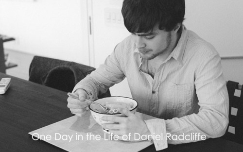 a hari in the life of daniel radcliffe
