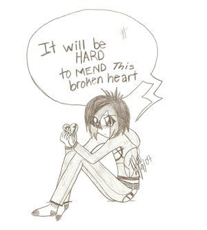 Broken hearts wolpeyper possibly containing anime entitled brken girl