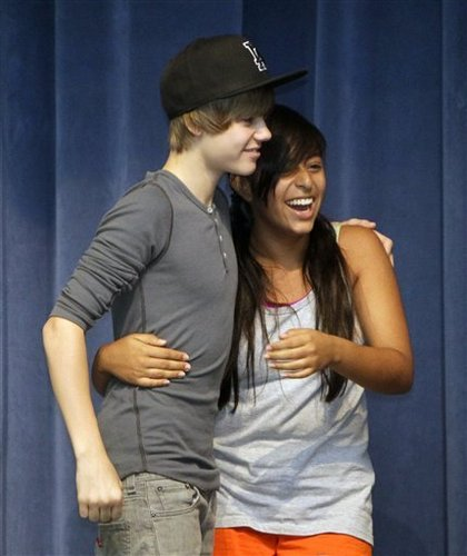 justin and a fan<3
