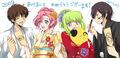 lelouch, c.c., suzaku and euphemia