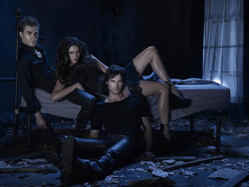 The Vampire Diaries wallpaper containing a living room and a family room called promo photo|2 season