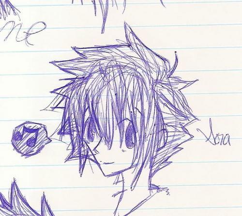 :*:*Sora's drawing of himself:*:*