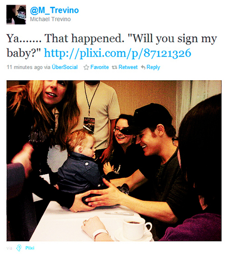 """will anda sign my baby?"""