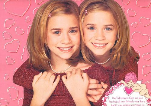 Mary-Kate & Ashley Olsen karatasi la kupamba ukuta probably containing a portrait called 1999/2000 - Calender