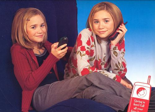 Mary-Kate & Ashley Olsen wallpaper possibly containing an outerwear, a well dressed person, and a box mantel called 1999/2000 - Calender