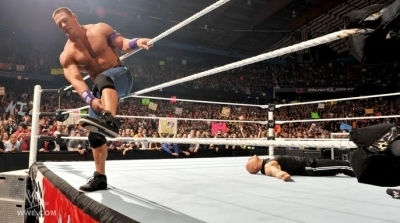 28-3-2011 / john cena / the rock/ the miz