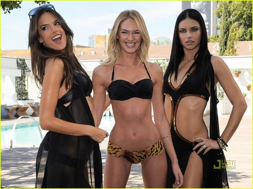 Alessandra Ambrosio Models Victoria's Secret Swim Collection