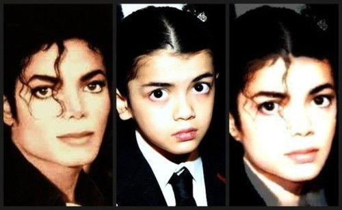 Prince Michael Jackson wallpaper possibly containing a portrait called Blanket looks like his Daddy