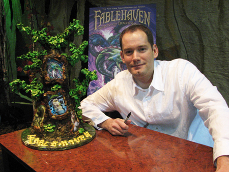 Brandon Mull at a book signing