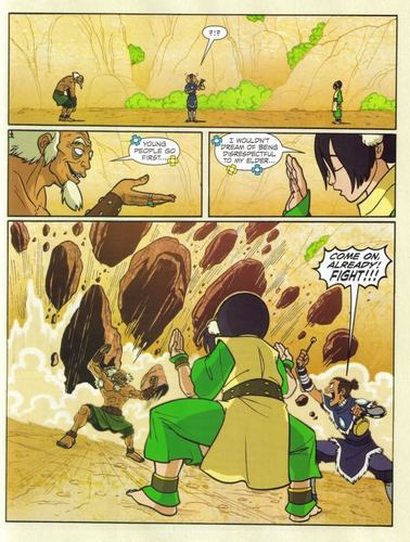 Avatar The Last Airbender kertas dinding probably containing Anime entitled Bumi vs Toph 4