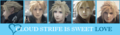 Cloud strife love bar
