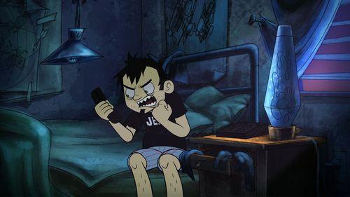 Dan yells at the phone!