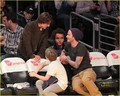 David Beckham & Tom Cruise: Laker Game Guys - tom-cruise photo