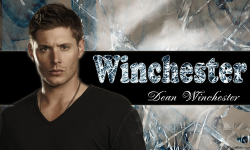 Supernatural wallpaper containing a sign entitled Dean Winchester