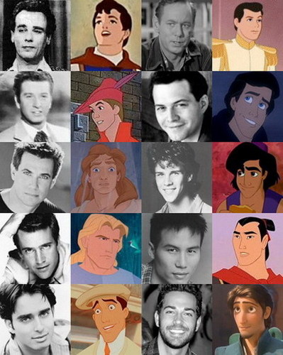 Дисней Princes and their voice actors