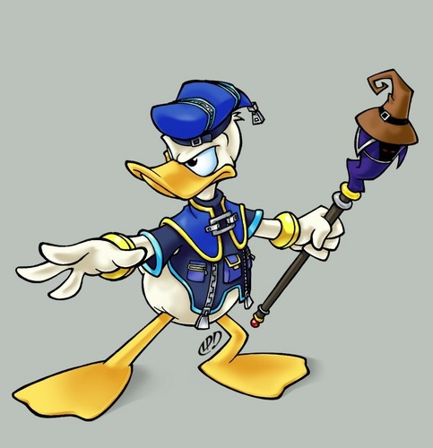 Kingdom Hearts 2 wallpaper containing animê called Donald pato