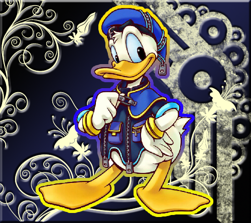 Kingdom Hearts 2 fond d'écran probably with animé called Donald canard