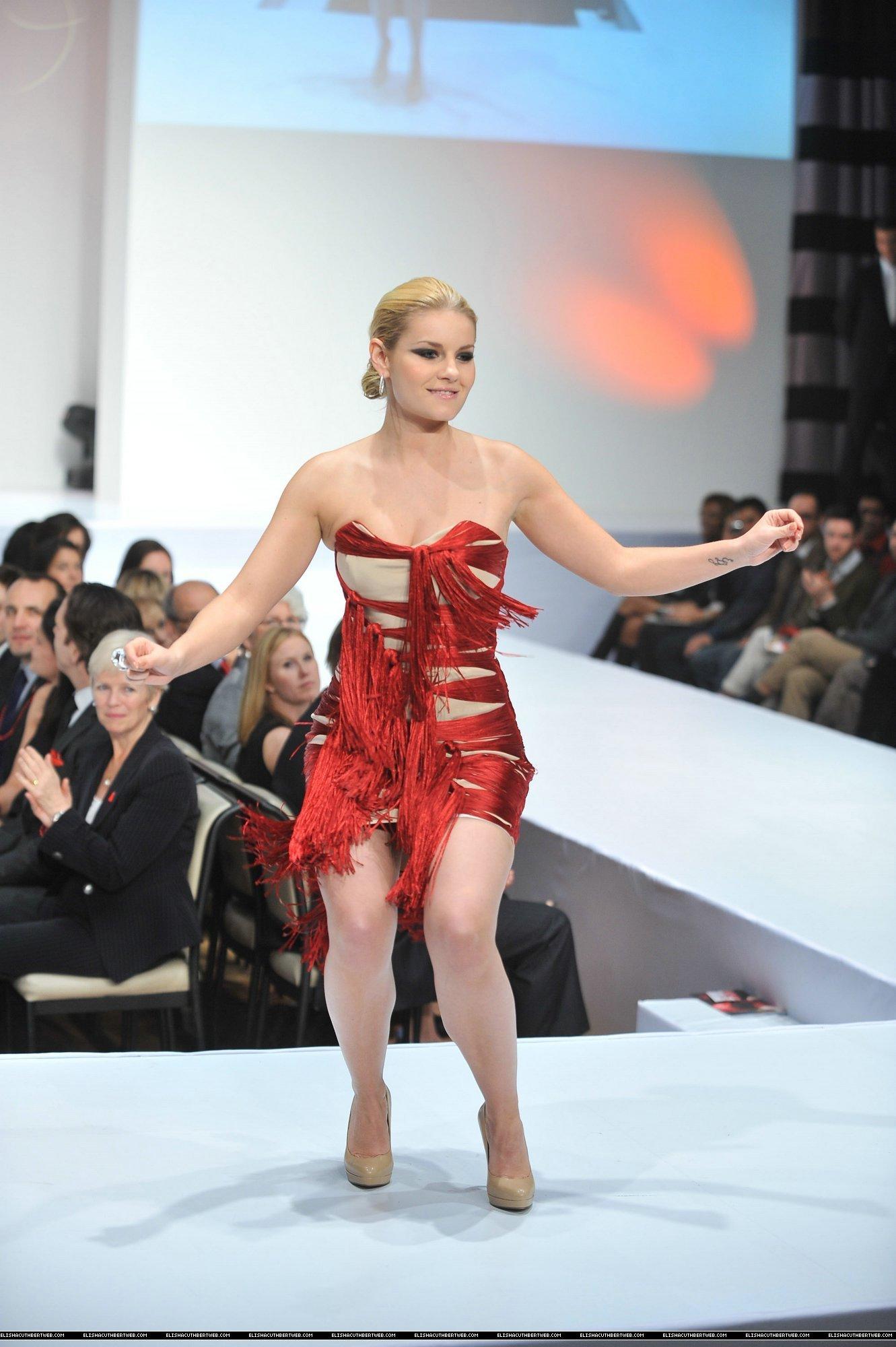 Elisha @ the Heart Truth fashion show 3/24/11