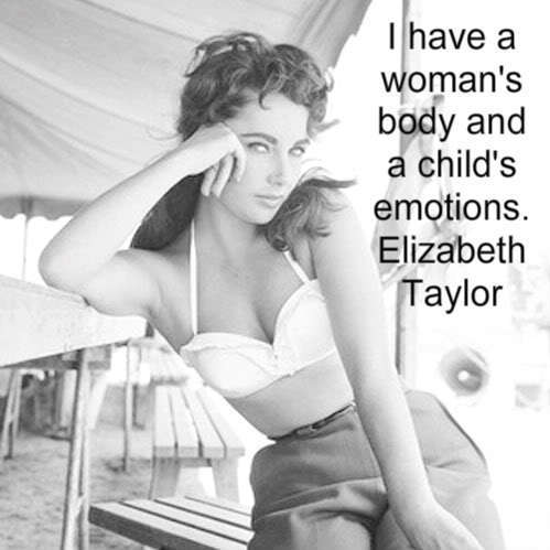 Elizabeth Taylor karatasi la kupamba ukuta containing a bikini, an undergarment, and skin called Elizabeth Taylor Quote