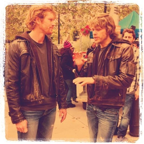 NCIS: Los Angeles Обои possibly containing an outerwear and a well dressed person entitled Eric Olsen and his Brother