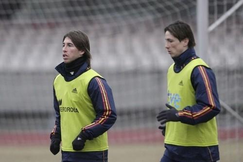 Fernando Training Spain NT in Lithuania