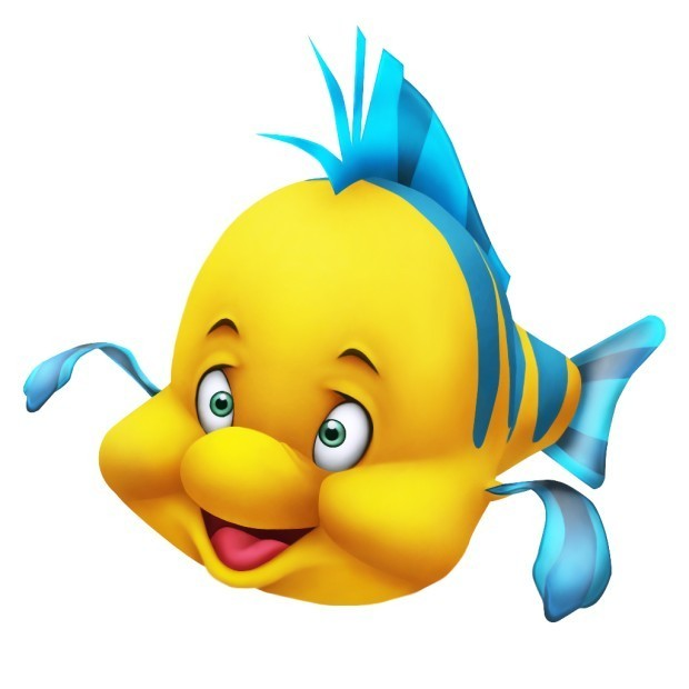 Flounder in kingdom hearts walt disney characters photo for The little mermaid fish