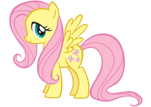my little pónei, pônei - a amizade é mágica wallpaper probably containing animê entitled Fluttershy