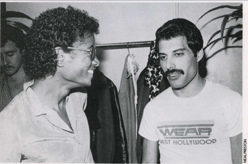 Freddie and Michael Jackson