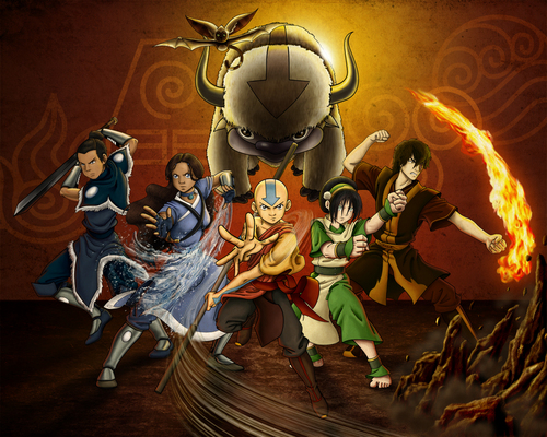 Avatar: The Last Airbender achtergrond possibly containing anime titled Gaang_by_Allagea