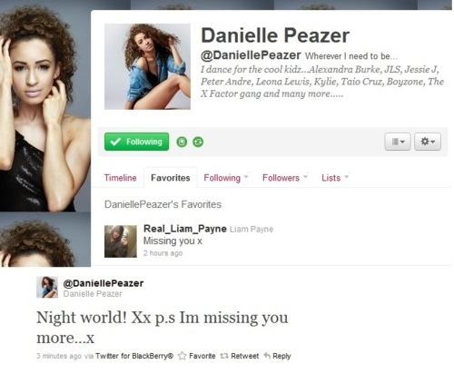 Goregous Liam Twets His Girlfriend Danielle Peazer Who Is A Dancer 100% Real :) x