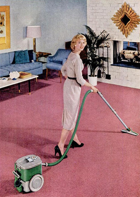Pink (Color) wallpaper containing a hoover and a vacuum entitled Housework looks Glamorous when the carpet is pink